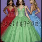 Sexy Ball Gown Prom/Ball/Evening strapless Red Blue Green WeddingDress Custom Size  voile W003-8