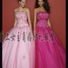 Sexy Ball Gown Prom/Ball/Evening strapless Pink Rosy WeddingDress Custom Size  voile W003-10