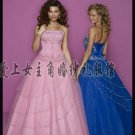 Sexy Ball Gown Prom/Ball/Evening strapless Blue white WeddingDress Custom Size  voile&satin W003-17