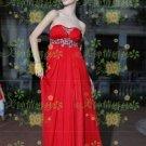 New sexy Prom/Ball/Evening strapless Red WeddingDress Custom Size  voile&satin W002-87