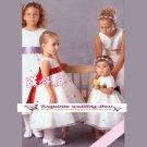 A-line Around-neck Knee-Length Organza Flower Girl Dress Custom Size WG004-8