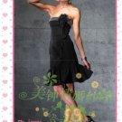 New sexy strapless Prom/Ball/Evening WeddingDress Custom Size  voile&satin W002-106
