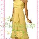 New sexy strapl Prom/Ball/Evening WeddingDress Custom Size  voile&satin W002-110