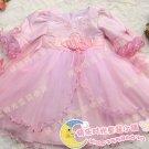 A-line Round-neck kness-Length Organza Flower Girl Dress WG006-3