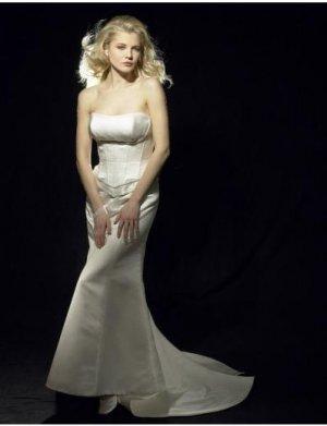 Mermaid Strapless Chapel Train Satin wedding dress for brides 2010 style(WDA0596)