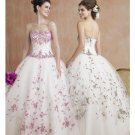 Ball Gown Sweetheart Floor Length Organza wedding dress for brides 2010 style(WDE0161)