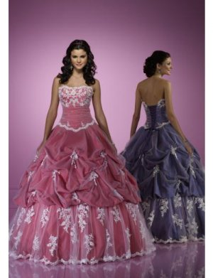 Ball Gown Strapless Floor Length Satin wedding dress for brides 2010 style(WDE0167)