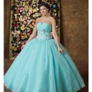 Ball Gown Strapless Tea-length Satin wedding dress for brides 2010 style(WDE0180)