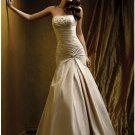 A-Line/Princess Strapless Chapel Train Taffeta wedding dress (WS0064) for brides new Style