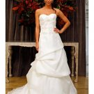 A-Line/Princess Sweetheart Chapel Train Organza wedding dress (WD004) for brides new Style