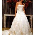 A-Line/Princess Sweetheart Chapel Train Taffeta wedding dress (WD005) for brides new Style