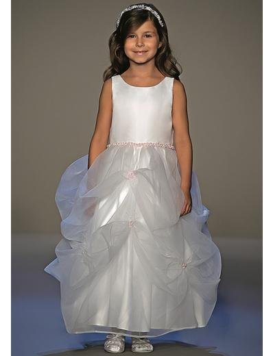 A-Line Round-neck Tea-length Organza Flower girls Dress new Style(FGD0036)