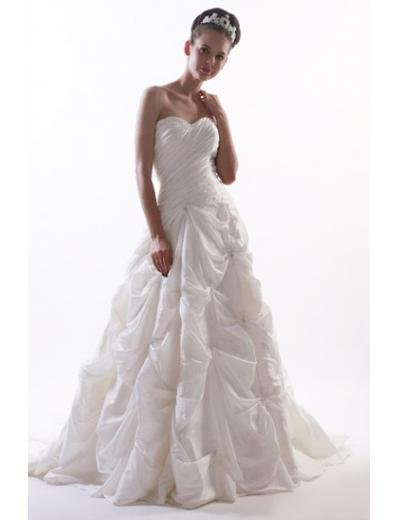 Princess/A-Line Sweetheart Chapel train Satin wedding dress for brides new style(WD10)