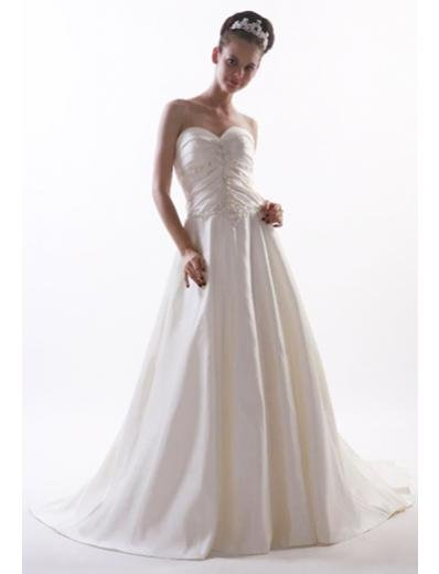 Princess/A-Line Sweetheart Chapel train Satin wedding dress for brides new style(WD08)
