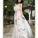 A-Line Strapless Chapel Train Silk Satin Tulle wedding dress for brides (WDE30063) new style