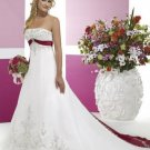 A-line/Princess Strapless Cathedal Train Satin wedding dress (WD24) for brides new style