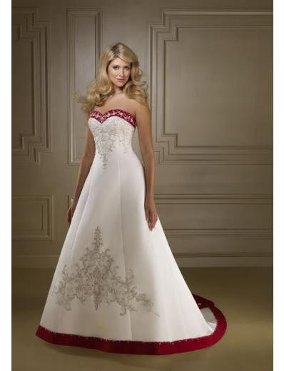 A-line/Princess Sweetheart Chapel Train Satin wedding dress (WD26) for brides new style