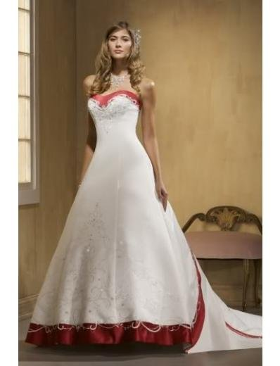 A-line/Princess Sweetheart Cathedral Train Satin wedding dress (WDA31) for brides new style