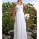 A-Line/Princess Spaghetti Straps Chapel Train Chiffon wedding dress (WS0075) for brides new style