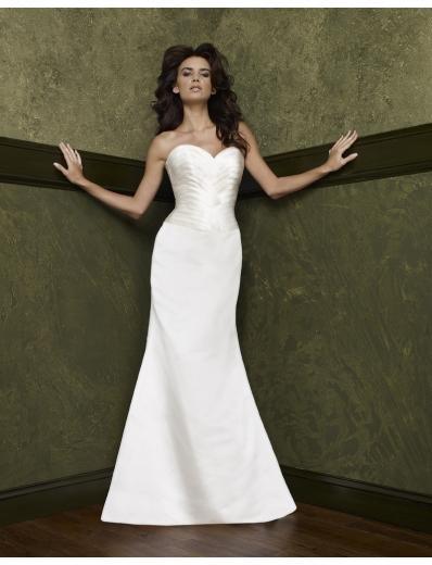 Mermaid Sweetheart Chapel Train Satin wedding dress(WEDS0002) for brides new style