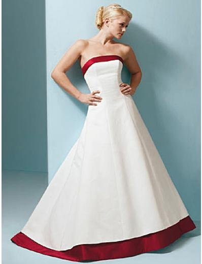 A-Line/Princess Strapless Chapel Train Satin wedding dress for brides new style(SEW0008)