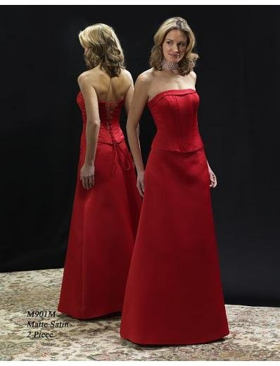 A-Line Strapless Floor- Length Satin Mother of the Bride Dresses new Style(MBD0016)