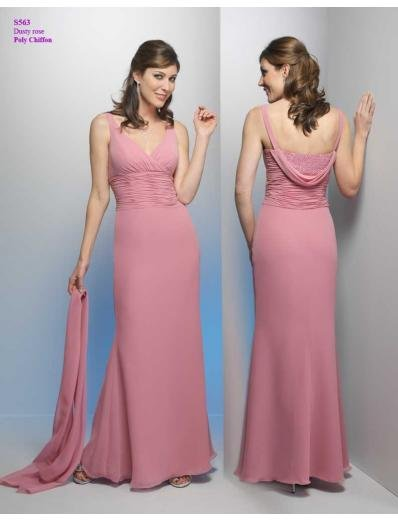 A-Line V-neck Floor- Length Chiffon Mother of bride Dress new Style(MWYN022)