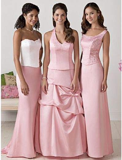 A-Line Halter up Floor Length Satin Mother of the Bride Dresses new style(MBD00119)