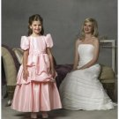 A-line Jewel Tea-Length Taffeta Flower Girl Dress 2010 style(FGD0083)