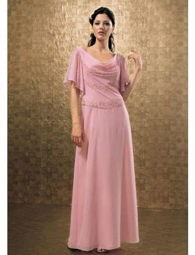 A-Line Scoop Floor- Length Satin Mother of the Bride Dresses new Style(MBD0021)