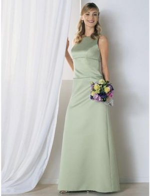 A-Line Jewel Tea-length Satin Mother of the Bride Dresses new style(MWYN112)