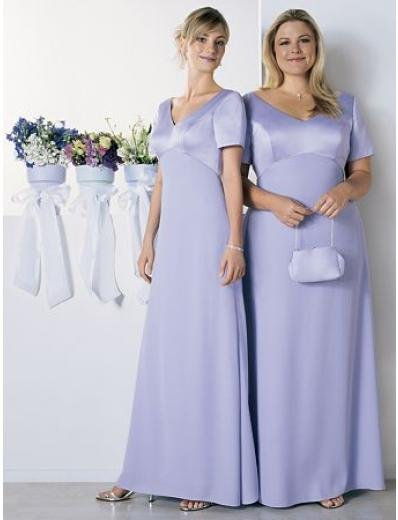 Empire V-neck Floor Length Satin Mother of the Bride Dresses new style(MWYN109)