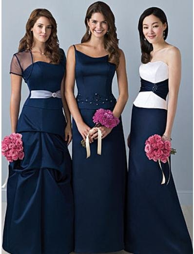 A-Line Strapless Floor Length Satin Mother of the Bride Dresses new style(MBD00111)