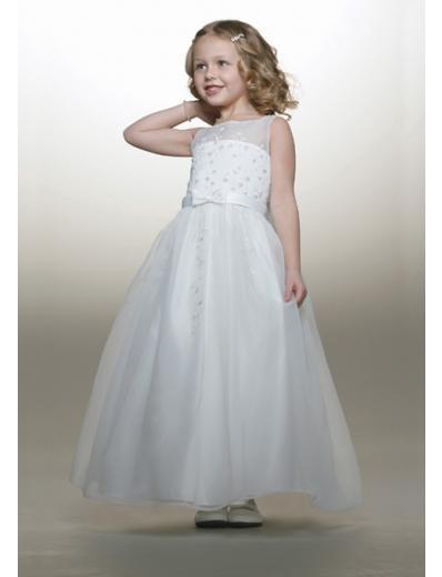 A-line Bateau Knee-Length Chiffon Flower Girl Dress NEW style(FGD0087)