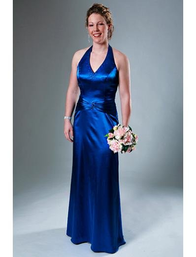 A-Line Halter Top Floor- Length Satin Mother of the Bride Dresses new Style(MWYN073)