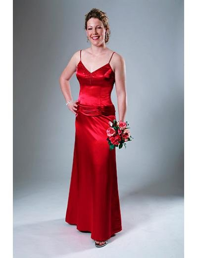 A-Line Spaghetti Straps Floor- Length Satin Mother of the Bride Dresses new Style(MWYN075)