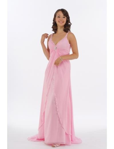 A-Line V-neck Sweeping Train Chiffon Mother of bride Dress new Style(MWYN004)