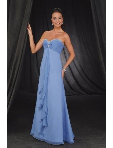 A-Line Strapless Floor- Length Chiffon Mother of the Bride Dresses new Style(MWYN119)