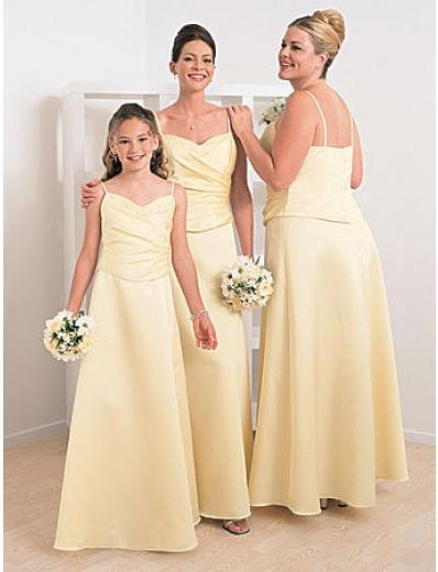 A-Line Spaghetti Straps Floor- Length Satin Mother of the Bride Dresses new Style(MBD0120)