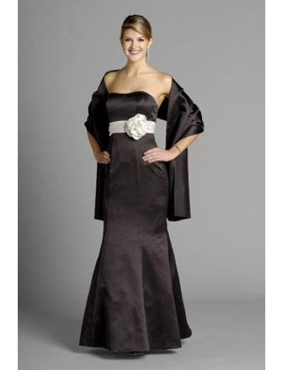 A-Line Strapless Floor- Length Satin Mother of the Bride Dresses new Style(MWYN123)