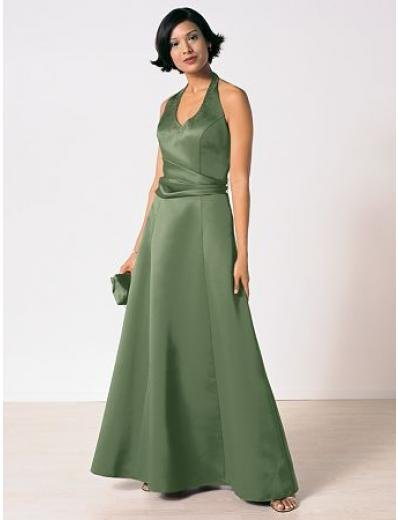 A-Line Halter Top Floor- Length Satin Mother of the Bride Dresses new Style(MWYN121)
