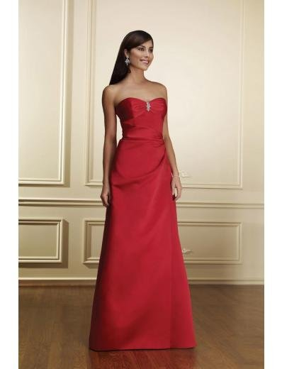 A-Line Strapless Floor- Length Satin Mother of the Bride Dresses new Style(MWYN111)