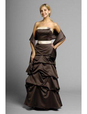 A-Line Strapless Floor- Length Satin Mother of the Bride Dresses new Style(MWYN106)