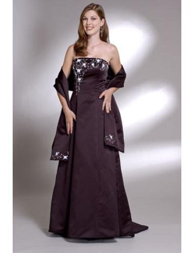 A-Line Strapless Floor- Length Satin Mother of the Bride Dresses new Style(MWYN105)