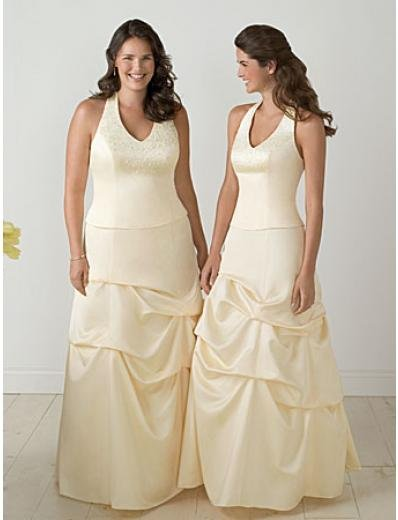 A-Line Halter Top Floor- Length Satin Mother of the Bride Dresses new Style(MWYN115)