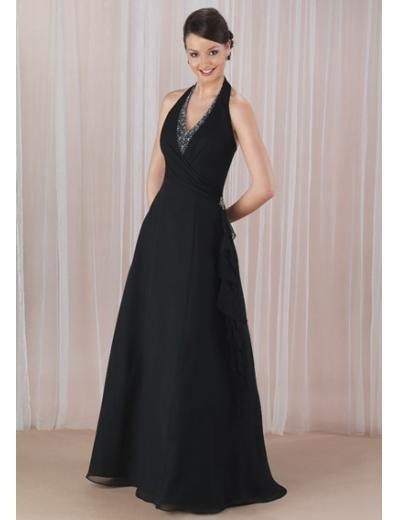 A-Line Halter Top Floor Length Chiffion Mother of the Bride Dresses new style(MBD0068)