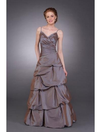 A-Line Spaghetti Straps Floor Length Taffeta Mother of the Bride Dresses new style(MWYN081)