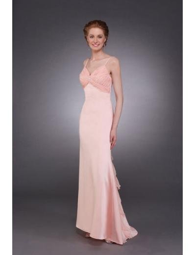 Column/Sheath Spaghetti Straps Brush Train Chiffon Mother of the Bride Dresses new style(MWYN077)