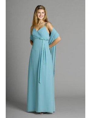 A-Line Spagetti Straps Floor Length Chiffon Mother of the Bride Dresses(MBD0096)