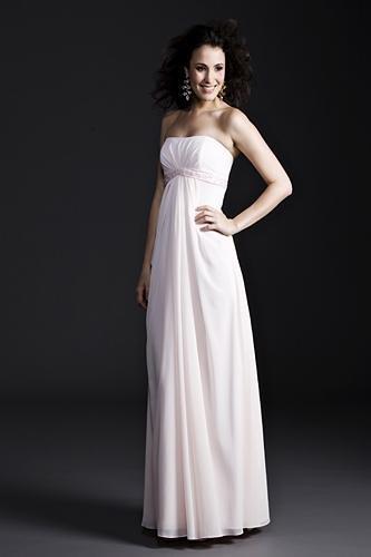 Sheath / Column Strapless Knee-length Satin Mother of the Bride Dresses(MBD0091)